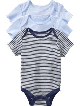 Gap.com: babyGap: Newborn: Short-sleeved essential bodysuit (3-pack): First Favorites :  sleeved favorites newborn short