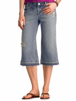 Gap Original gaucho distressed jeans