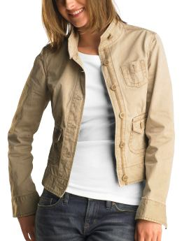 Gap.com: Women: Shop Women's Styles: Outerwear: Jackets:Surplus twill jacket :  jacket clothing outerwear apparel