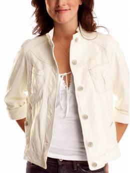 Gap.com: Women: Womens: A-line leather surplus jacket: Outerwear: Sale