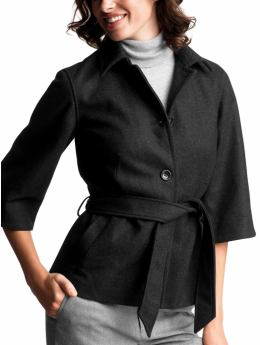 Gap.com: Women: Womens: 3/4-sleeve wrap coat: Coats: Outerwear