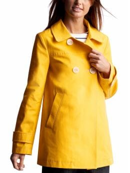 Women: Womens: Back-tab mac jacket: Outerwear: New Arrivals | Gap :  raincoat macintosh gap empire waist