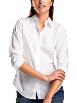 Women: Stretch fitted shirt - white