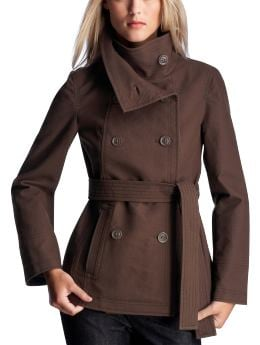 Women's Clothing: Women's Clothing: Double-placket belted coat: Outerwear New Arrivals | Gap :  moleskin twill cotton fall coats peacoats