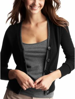 Gap.com: Women: Womens: Tipped cardigan: Tops: New Arrivals :  tops v neck cardigan tipped cardigan