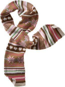 Gap Fair isle sparkle scarf