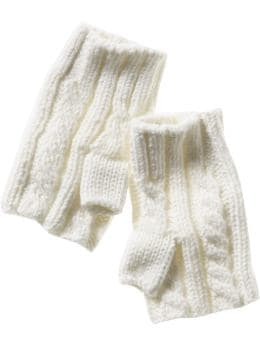 Gap Fingerless cable knit gloves