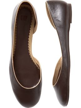 Gap.com: Women: Shop Women's Styles: Shoes: Ballet Flats:Leather d'orsay flats :  leather flats ballet shoes