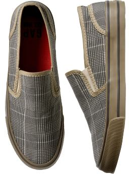 Sneakers:Houndstooth slip-on