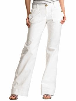 Gap.com: Women: Womens: White denim trousers: Jeans: Sale from gap.com