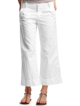 Gap.com: Women: Women: Cotton linen pants: Straight Leg: Pants :  pants cropped pants cotton linen pants petite pants