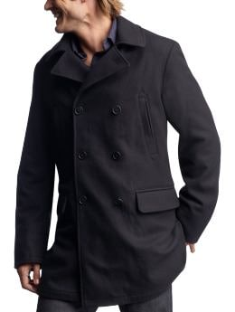 Men: Men: Navy wool peacoat: New Arrivals | Gap