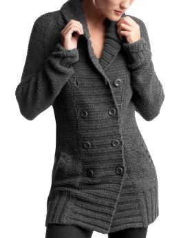 Women: Womens: Shawl-collar sweater coat: Cardigans & Hoodies: Sweaters | Gap :  coat grey sweater cardigan jacke