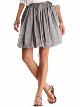 Gap Clean bubble skirt - midland gray