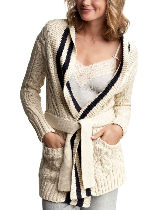 Gap.com: Women: Womens: Varsity belted sweater: Sleep & Lounge: New Arrivals :  online sweater buy accessories