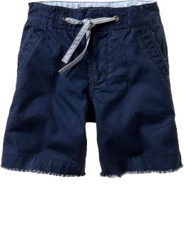 Gap.com: babyGap: Baby Boy: Two tone canvas shorts: Toddler 1-5 yrs: Shorts