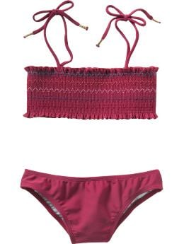 Gap.com: GapKids: Girls: Smocked bandeau bikini: Swim: Swim :  smocked gap swim gapkids