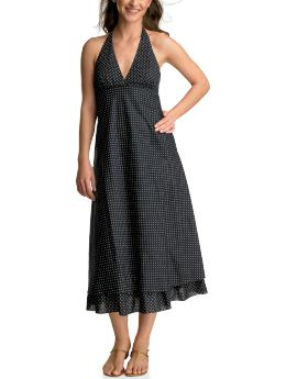 Gap Polka dot halter dress - navy polka dot