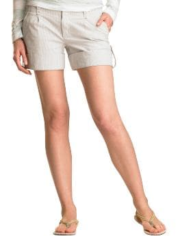 Gap.com: Women: Womens: Striped clean roll-up shorts: Capris & Shorts: Sale :  cotton sleeve cardigan khaki shorts womens