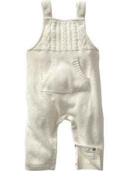 Gap.com: babyGap: Newborn: Cable knit overalls: One-Pieces & Dresses :  one overalls newborn cable knit overalls