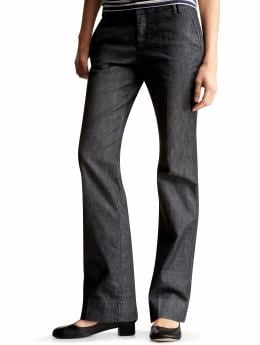 Gap.com: Women: Womens: Clean straight denim pants: Bottoms: New Arrivals :  pants staight clean front double belt loops