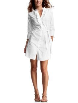 Gap.com: Women: Womens: Solid ruffled shirt dress: Dresses: Dresses
