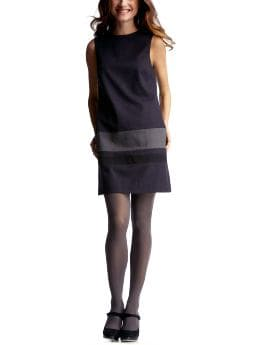 Women: Colorblock shift dress - navy