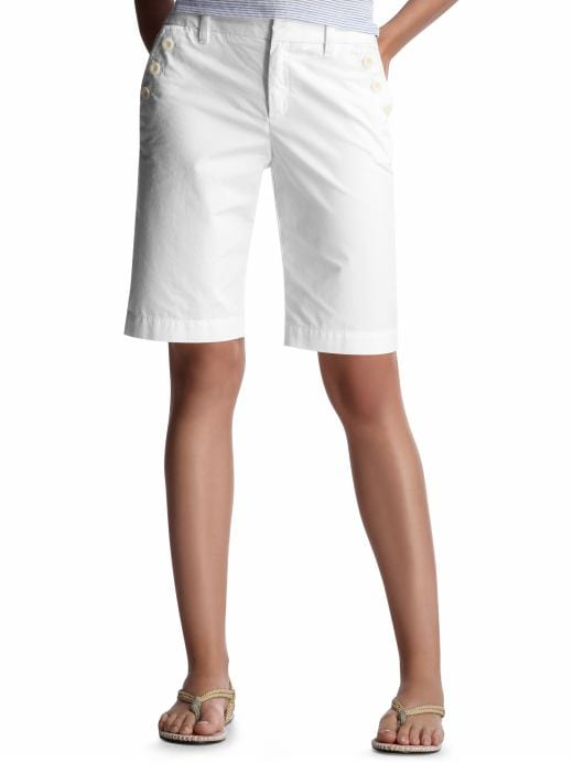 Women's Clothing: Women's Clothing: Sailor Bermuda shorts | Gap :  chic women white trend shorts
