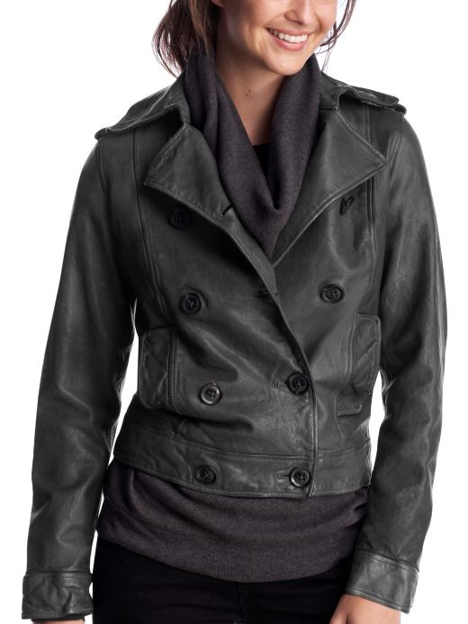 Women's Clothing: Women's Clothing: The leather jacket: Outerwear New Arrivals | Gap from gap.com
