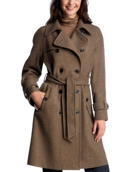 Women's Clothing: Women's Clothing: Long herringbone trench coat: Coats 30% Off Outerwear | Gap