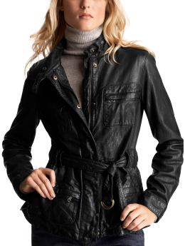 Women's Clothing: Women's Clothing: Belted leather motorcycle jacket: Leather Outerwear | Gap :  design designer leather jacket clothing