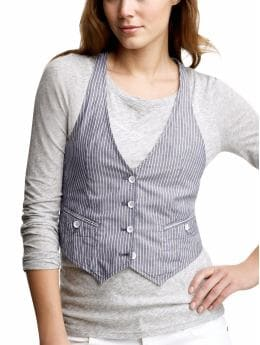 Women's Clothing: Women's Clothing: Striped racerback vest: Trend: Blue & White | Gap from gap.com