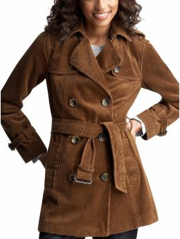 Corduroy trench coat from gap.com