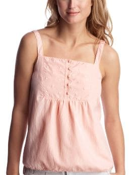 Women's Clothing: Women's Clothing: Embossed bib-front cami: Tops New Arrivals | Gap :  tank top womens clothing floral embroidery
