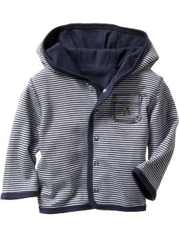 Gap.com: babyGap: Newborn: Reversible pima modal hoodie: Pima Modal Collection from gap.com