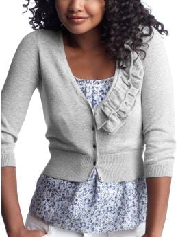 Women's Clothing: Women's Clothing: Cropped ruffle cardigan: Tops New Arrivals | Gap from gap.com
