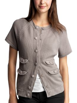 Women's Clothing: Women's Clothing: Covered-button cardigan: Tops New Arrivals | Gap