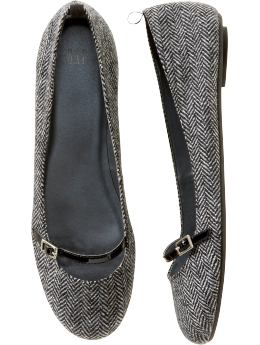 Gap.com: Women: Womens: Herringbone mary jane ballet flat: Ballet Flats: Shoes :  flat flats herringbone mary jane ballet flat ballet