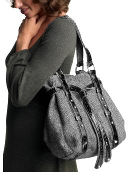 Gap.com: Women: Womens: Herringbone tweed shopper tote: Accessories: New Arrivals :  brushed metal herringbone herringbone tweed shopper tote long strap