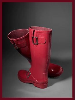 Men: Gap (PRODUCT) RED&#153 wellies - cinnabar red