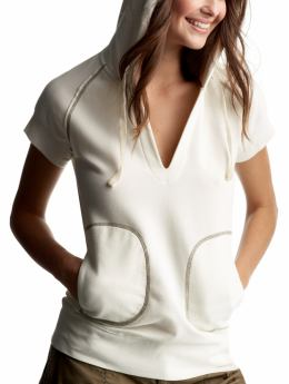 Gap.com: Women: Womens: Sherpa-lined pullover hoodie: Sleep & Lounge: New Arrivals :  short sleeves ivory pockets lined