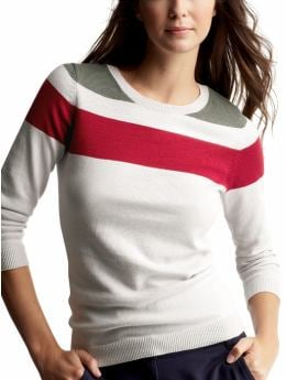 Gap.com: Women: Womens: Striped cotton cashmere sweater: European Collection :  cashmere gap cotton women
