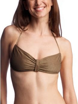 Lurex® bandeau top :  fashion ties at center back ties at neck lurex bandeau top