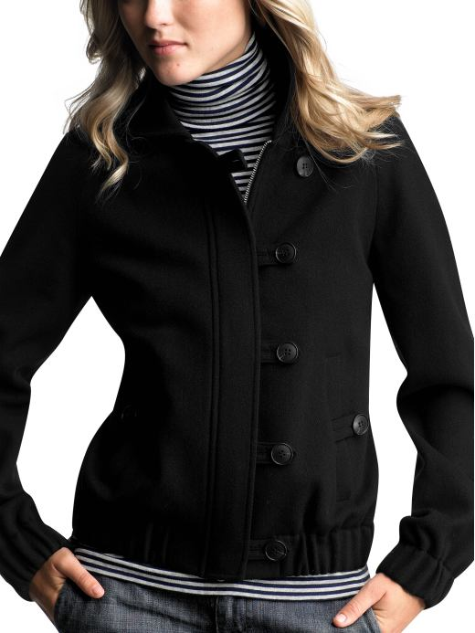 Women: Womens: Wool bomber jacket: Jackets: Outerwear | Gap