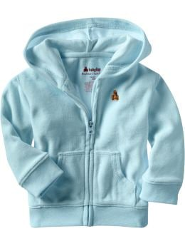 Gap.com: babyGap: Baby Girl: Cozy velour zip front hoodie: Infant 0-24 mos: Activewear