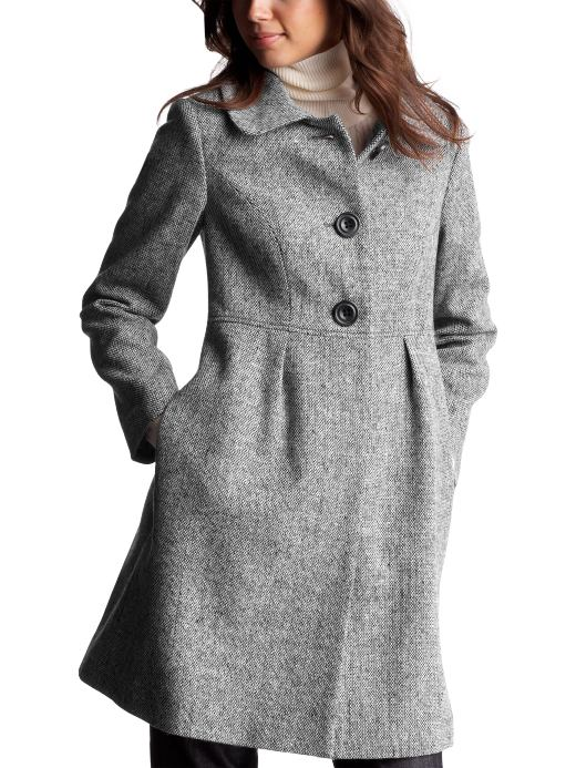 Women: Womens: Tweed pleated lady coat: Coats: Outerwear | Gap :  jacket twead pleated coat twead coat grey coat