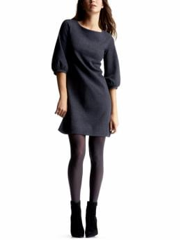 Gap.com: Women: Womens: 3/4-sleeved knit wool dress: Dresses: Dresses :  wool round neck dress military blue