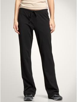 Women: Simple drawstring pants - black