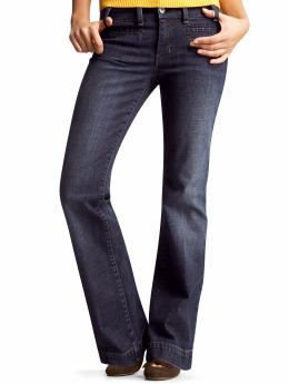 Women's Clothing: Women's Clothing: Welt-pocket curvy jeans: Sale Jeans | Gap :  denim dark wash boot cut womens
