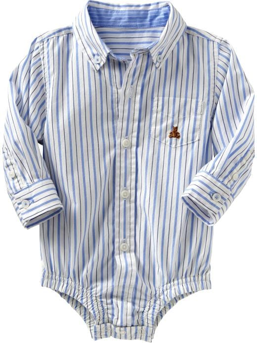 Baby Clothing: Baby Boy Clothing: Dressy bodysuit: Infant 0-24 mos Shirts | Gap :  bodysuit dressy shirt dressy bodysuit stripes